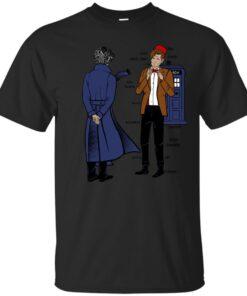 Sherlock meets the Doctor Cotton T-Shirt