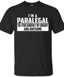 Smart and Awesome Paralegal Cotton T-Shirt