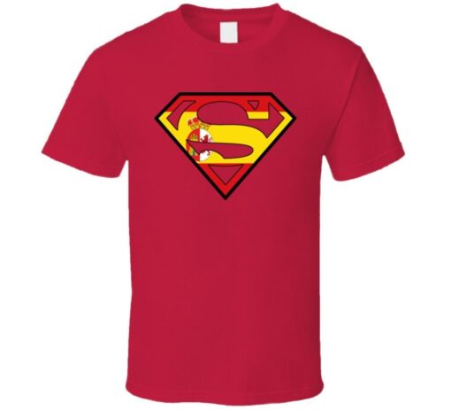 Spain Soccer Team Superhero Country T Shirt