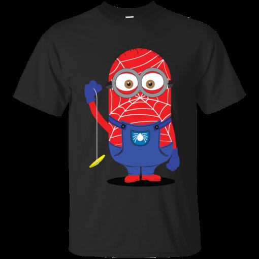 Spider Minion spider man Cotton T-Shirt