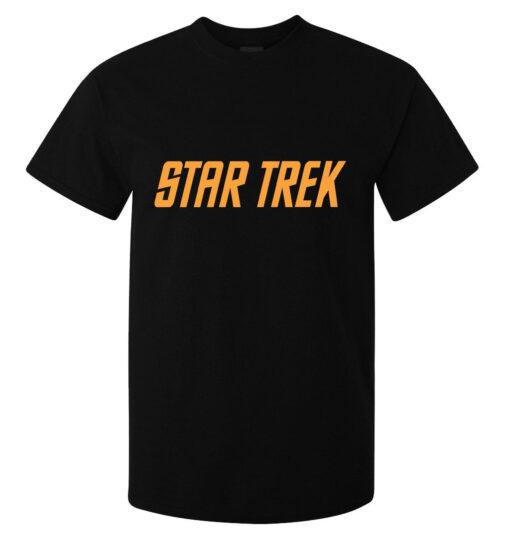 Star Trek Logo Orange Minimum Illustrations (Available For Women) Men Black T Shirt