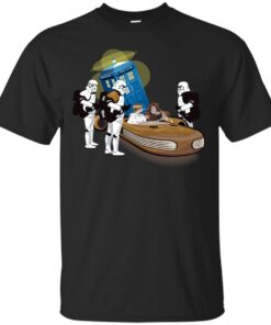 Star Wars Mashup Top Ten 8 Thats not the tardis you are looking for Cotton T-Shirt