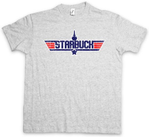 Starbuck Top Gun Fighter Galactica Lieutenant Kara Fun Space Ship T Shirt