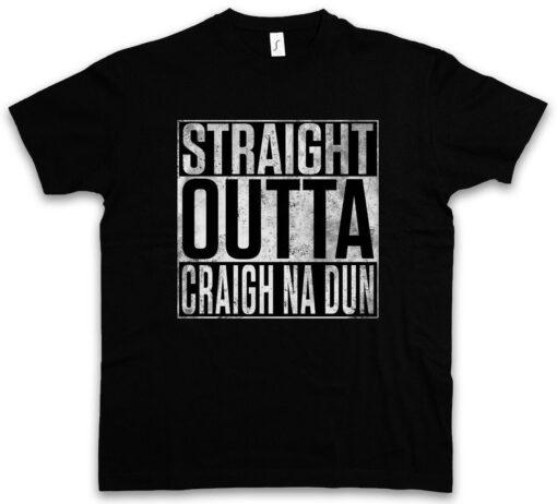 Straight Outta Craigh Na Dun Fun Scottish Rocks Jamie Outlander Claire T Shirt