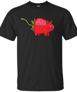 Strawberry Cat Cotton T-Shirt