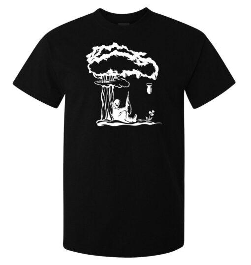 Surrealist Art Bomb Fallout Men (Women Available) Black T Shirt