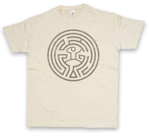 T Maze Westworld Circle Maze The Tattoo Head T Shirt