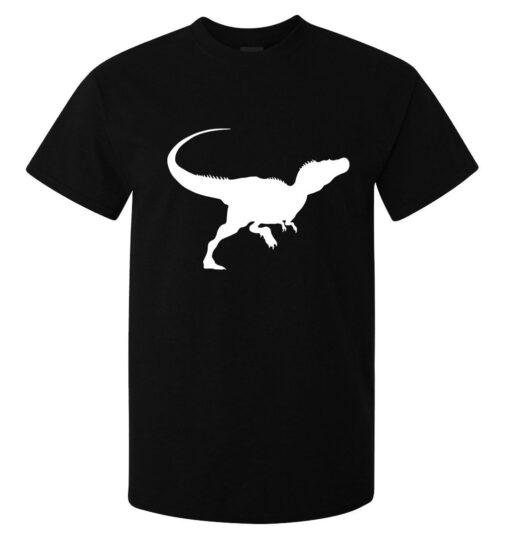 T-Rex Silhouette Logo Men (Women Available) Black T Shirt