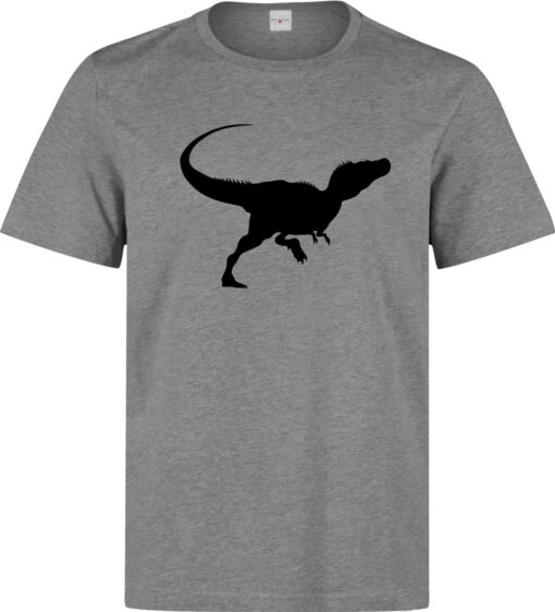 T-Rex Silhouette Logo Men (Women Available) Gray T Shirt