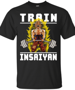 TRAIN INSAIYAN Goku Deadlift Cotton T-Shirt