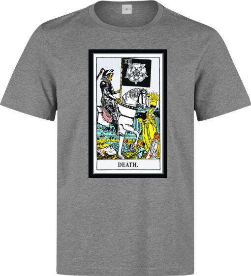 Tarot Death Card Art Logo Men (Women Available) Gray T Shirt