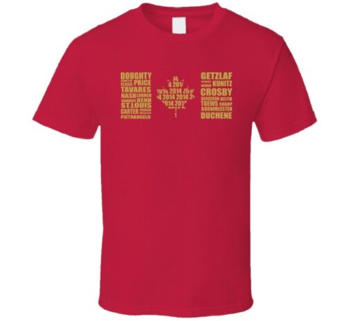 Team Canada Gold Medal Men'S Hockey Team T Shirt