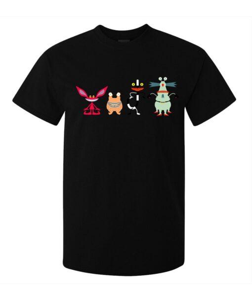 The Actual Cartoon Monsters Minimalist Art Men (Women Available) Black T Shirt