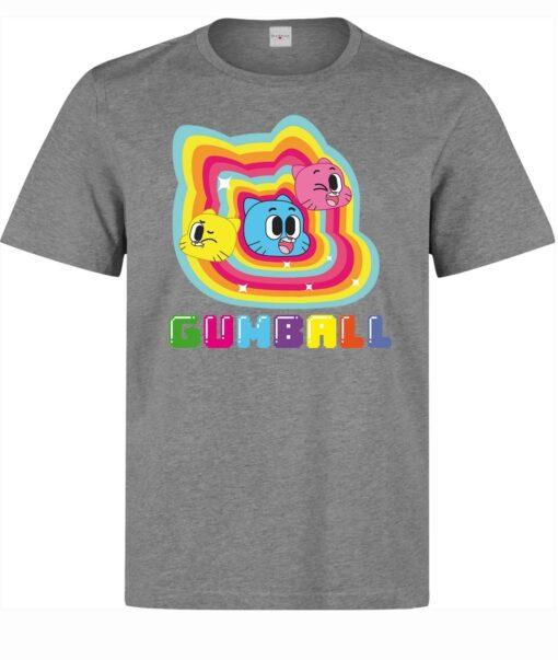 The Amazing World Of Men Cartoon Art Gumball (Women Available) Gray T Shirt