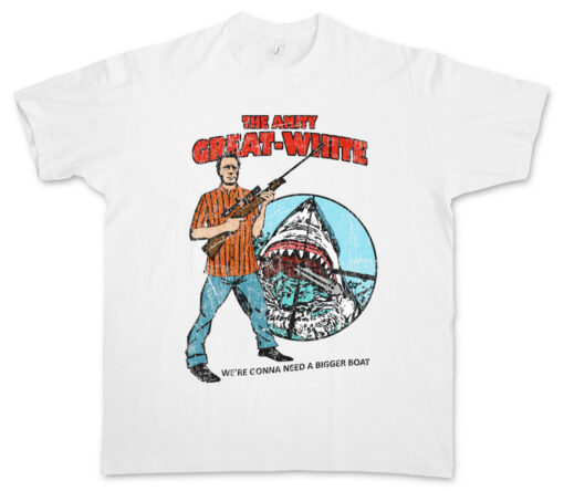 The Great White Friendship Martin Brody Jaws Quint Shark Island Boat Rifle T Shirt