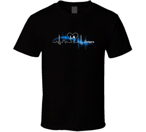The. Dodgers Baseball Heartbeat City T Shirt