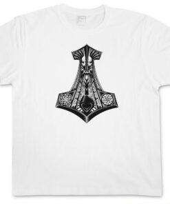 ? Thor Hammer S I - Mjölnr Odin Loki Midgard German Mjölnir Celtic God T Shirt