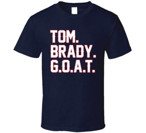 Tom Brady Patriots Football Goat T Shirt