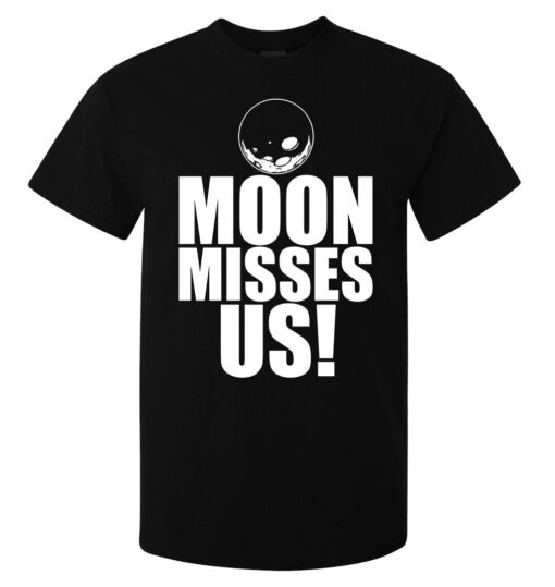 Top Quality Black Men Moon Misses Us White Chart (Available For Women) T Shirt