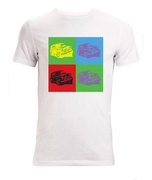 Top Quality White Pop Art Mini Cooper Stylish Men (Available Women) T Shirt
