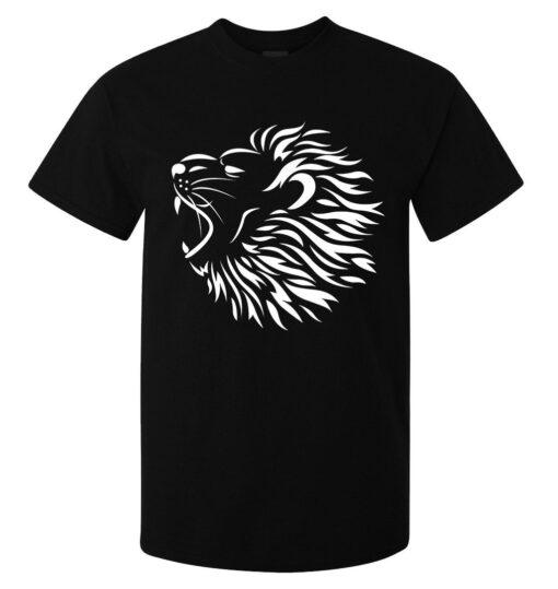 Tribal Roaring Lion Wild Africa Hear Best Men (Women Available) Black T Shirt