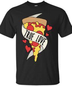 True love Pizza Cotton T-Shirt