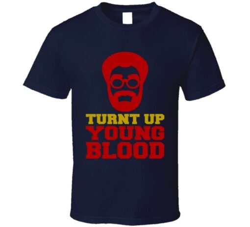 Turnt Up Young Blood Uncle Irvin Drew Kyrie Basketball Funny T Shirt