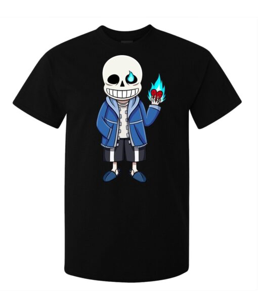Undertale Video Game Characters No Skeleton Men (Women Available) Black T Shirt