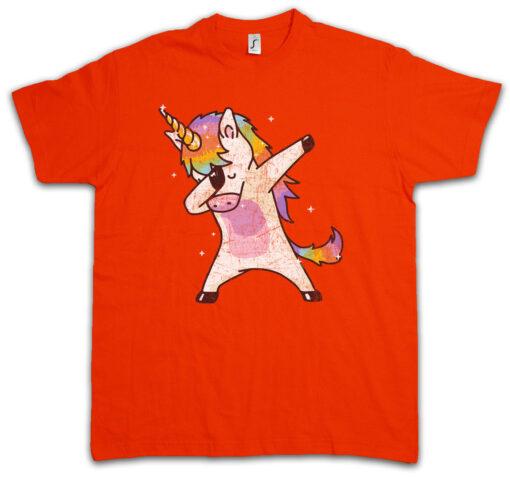 Unicorn T-Dab Ii Mc Dj Dance Party Club Clubbing Hooligan Hard Disk Rainbow T Shirt