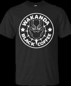 Wakanda Black Coffee Cotton T-Shirt