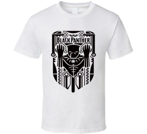 Wakanda Black Panther Cool Graphic Tribal Style T Shirt