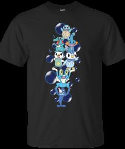 Water Starters pokemon Cotton T-Shirt