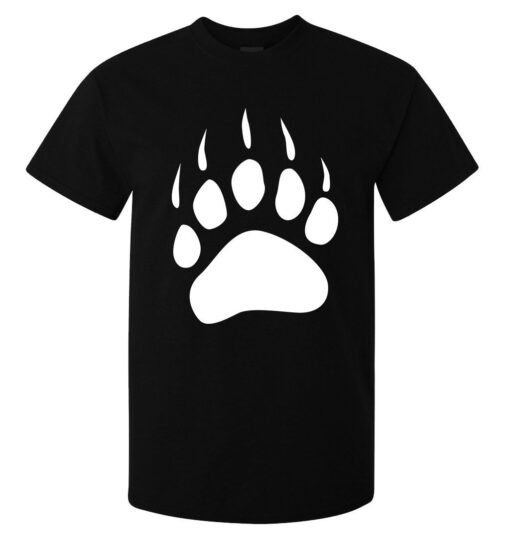 Werebears Footprint Of Graphic Illustrations (Woman Available) Black T Shirt