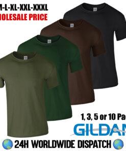 Wholesale Gildan Green Brown Black Military Army Fishing Golf Gym Summer T Shirt