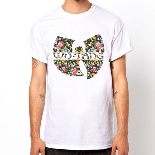 Wu-Tang Clan Rap Flower # 2 Gift Design Party Hip Hop Music White T Shirt