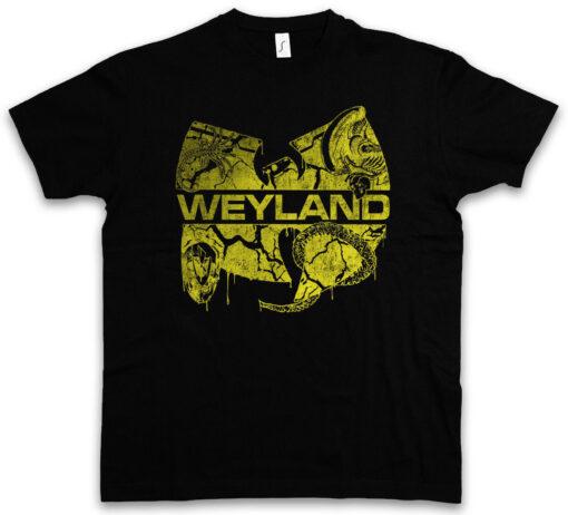 Wu Weyland Prometheus Alien Nostromo Uscss Tang Hip Hop Fun Yutani Logo T Shirt