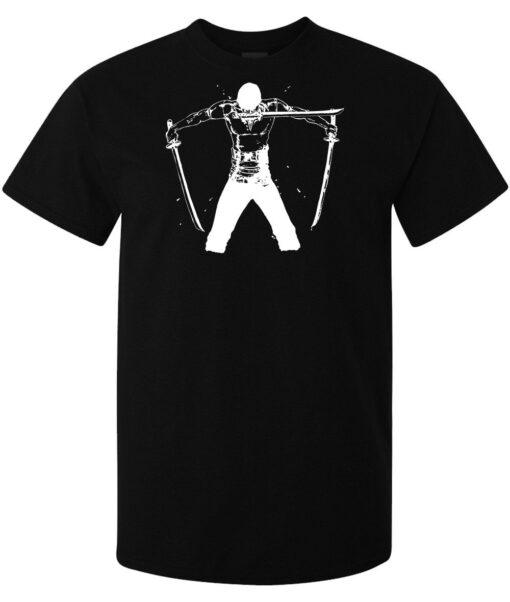 Zoro Black Men A Piece Of Art Anime Manga (Woman Available) Black T Shirt