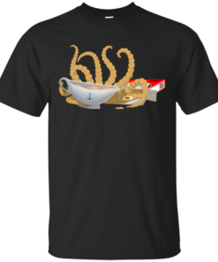 attack of the craken kraken artistic Cotton T-Shirt