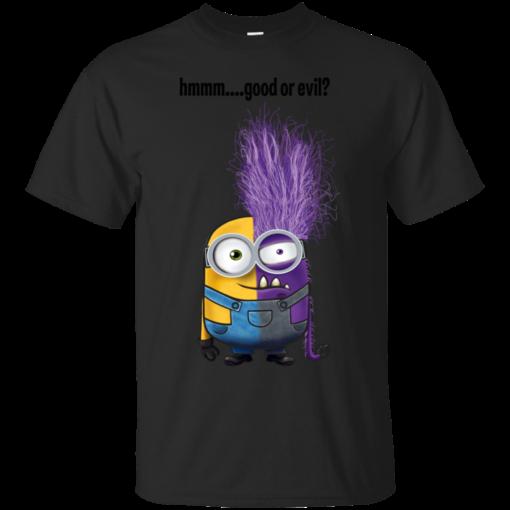 good or evil minions Cotton T-Shirt