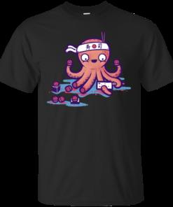 octo sushi Cotton T-Shirt